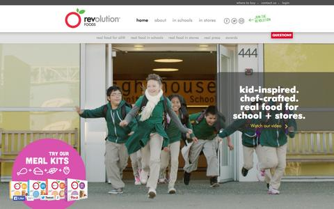 Screenshot of Home Page revolutionfoods.com - revolution foods   real food for all™ - captured Sept. 17, 2014