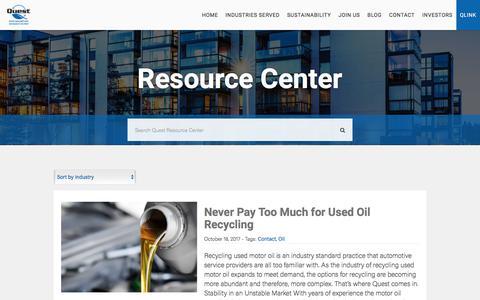 Screenshot of Blog questrmg.com - Resource Center   Quest Resource - captured Feb. 4, 2018