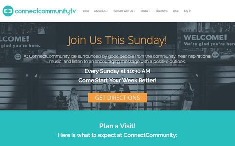 Screenshot of Home Page connectcommunity.tv - Home | ConnectCommunity - Local Stamford, CT Church - captured Aug. 22, 2017