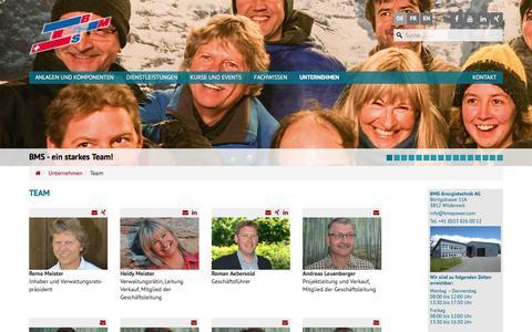 Screenshot of Team Page bmspower.com - Team   BMS-Energietechnik AG - captured Nov. 22, 2016