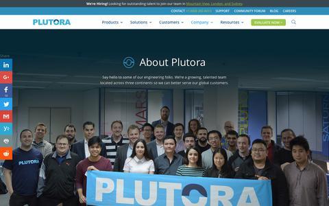 Screenshot of About Page plutora.com - Company - Plutora - captured March 19, 2017