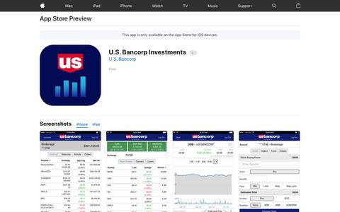 U.S. Bancorp Investments on the AppStore
