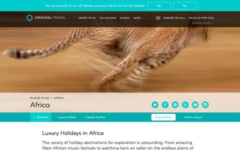 Luxury Holidays in Africa | Amazing Safari Holidays & More