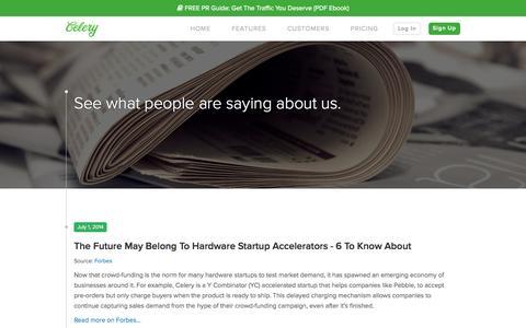 Screenshot of Press Page trycelery.com - Press | Celery - captured Oct. 10, 2014
