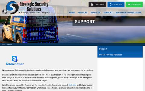 Screenshot of Support Page s3nc.com - Support from Strategic Security Solutions, your Access Control Experts - captured Oct. 25, 2017