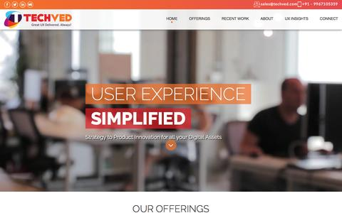 User Experience UX UI Design Company India | Usability Testing services lab in Mumbai | Techved