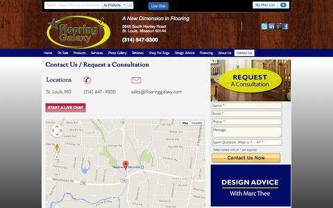 Screenshot of Contact Page flooringgalaxy.com - Request a Consultation St. Louis Flooring Galaxy | Flooring Galaxy - captured Sept. 30, 2014