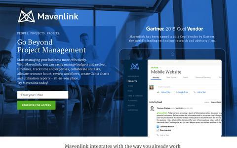 Screenshot of Landing Page mavenlink.com - Online Project Management Software  |  Mavenlink - captured Dec. 18, 2015