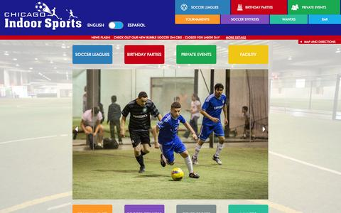 Screenshot of Maps & Directions Page chicagoindoorsports.com - Chicago Indoor Sports - Indoor Soccer, Lacrosse, Leagues - captured Sept. 29, 2014