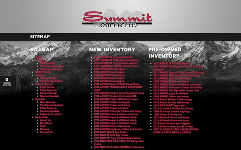 Screenshot of Site Map Page summittrailer.ca - Summit Trailer Group   Inventory for sale in Edmonton, AB T5S 1X4 - captured Feb. 16, 2016