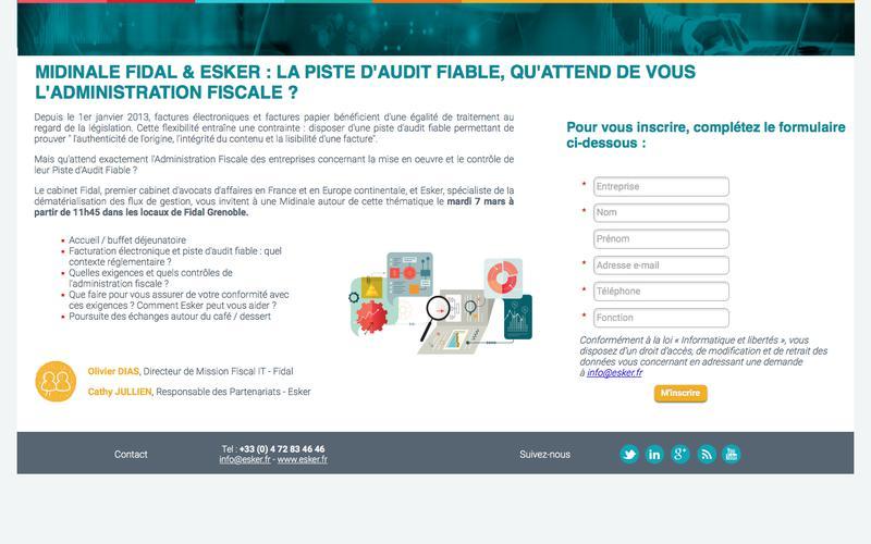 Midinale Esker & Fidal - Piste d'audit fiable