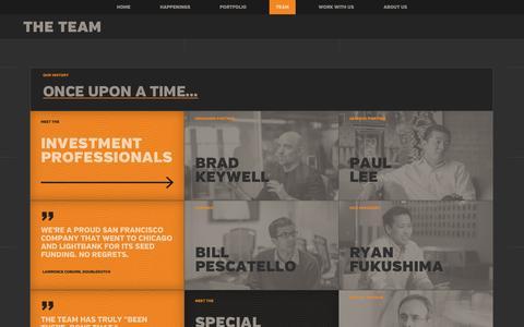 Screenshot of Team Page lightbank.com - Eric Lefkofsky & Brad Keywell (Co-Founders) & Lightbank Team - Lightbank - captured Sept. 19, 2014