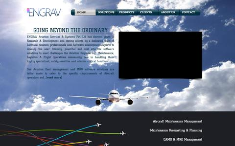 Screenshot of Services Page engravgroup.com - ENGRAV | Aircraft Maintenance Software | CAMO Software - captured Sept. 28, 2015
