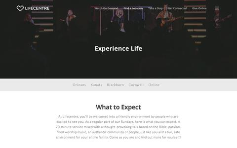 Screenshot of Locations Page lifecentre.org - Find a Location – Lifecentre - captured July 20, 2018