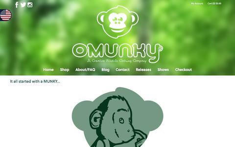 Screenshot of About Page omunky.com - OMUNKY - About/FAQ - captured Sept. 30, 2014