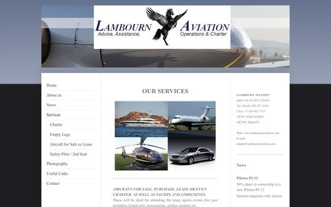 Screenshot of Services Page lambournaviation.com - Services - Lambourn Aviation - captured Sept. 27, 2014