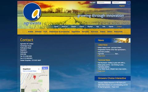 Screenshot of Contact Page agrovista.co.uk - Agrovista UK - Contact Us - captured Oct. 4, 2014