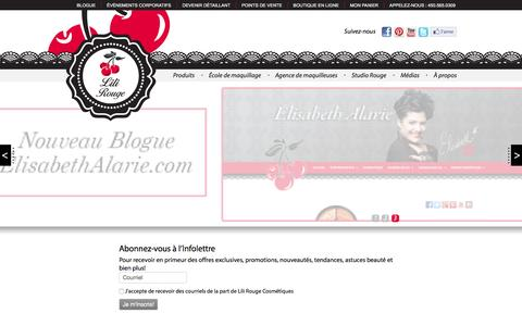 Screenshot of Home Page lilirougecosmetics.com - Lili Rouge Cosmetics - captured Feb. 15, 2016