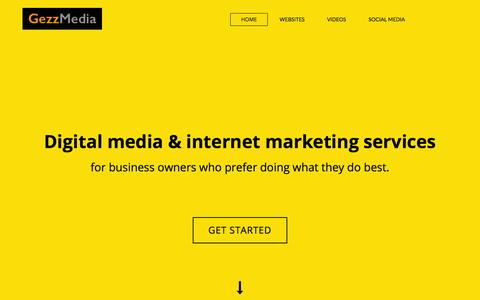 Screenshot of Home Page gezzmedia.nz - Digital media | Online marketing | Internet marketing | Auckland | New Zealand | GezzMedia - captured July 21, 2015