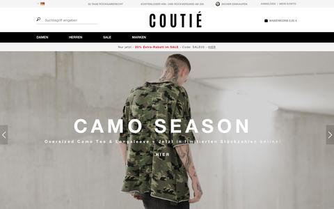 Screenshot of Home Page coutie.com - Fashion & Premium Streetwear Online Shop    COUTIE - captured Feb. 1, 2016