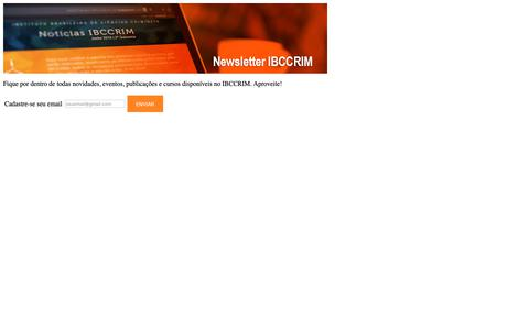 Screenshot of Press Page ibccrim.org.br captured Oct. 25, 2018