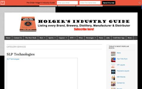 Screenshot of Services Page liquorsa.co.za - Services Archives - Holger's Industry Guide - captured Jan. 30, 2016