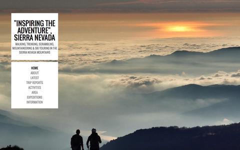 Screenshot of Blog spanishhighs.co.uk - Walking, Trekking & Mountaineering in the Sierra Nevada Spain - captured Sept. 29, 2015