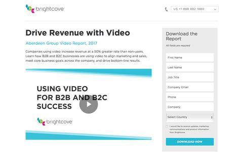 Screenshot of Landing Page brightcove.com - Brightcove | Drive Revenue with Video - captured March 2, 2018