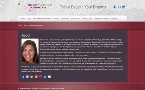 Screenshot of About Page dreamworldjourneys.com - About - Dreamworld Journeys   Dreamworld Journeys - captured Oct. 27, 2014