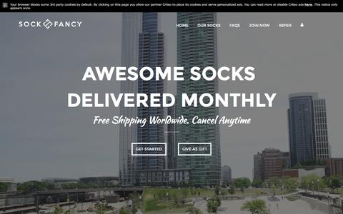 Screenshot of Home Page sockfancy.com - Sock Fancy - Awesomely Random Sock Subscription - captured Nov. 15, 2016