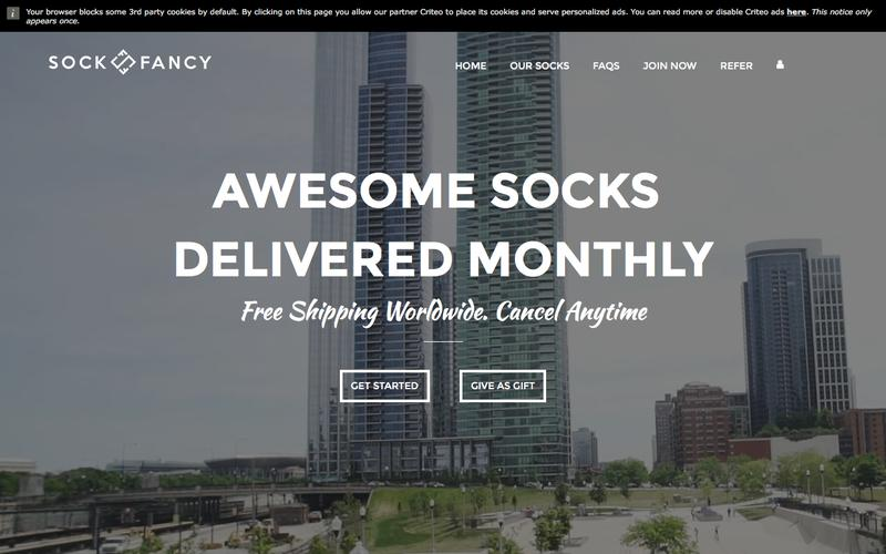 Screenshot Sock Fancy - Awesomely Random Sock Subscription