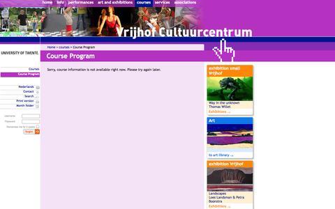 Screenshot of Signup Page utwente.nl - Course Program - captured Sept. 18, 2014