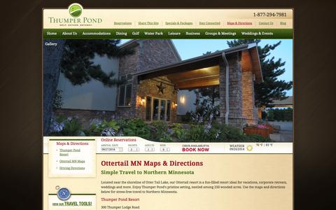 Screenshot of Maps & Directions Page thumperpond.com - Ottertail MN Maps   Ottertail Resort   Thumper Pond - captured Sept. 26, 2014