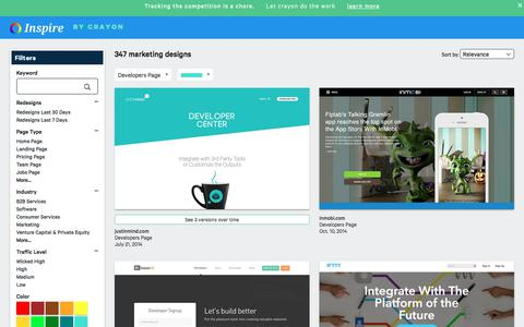Screenshot of Developers Page crayon.co - Developers Pages | Website Inspiration and Examples | Crayon - captured Nov. 26, 2019