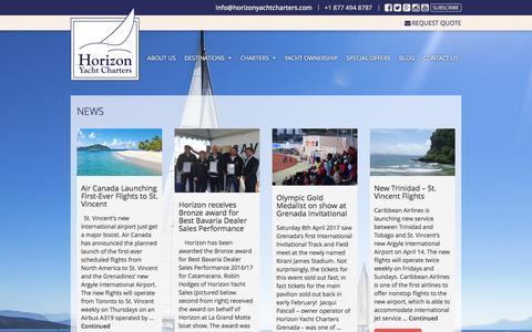 Screenshot of Press Page horizonyachtcharters.com - News | Horizon Yacht Charters - captured May 21, 2017