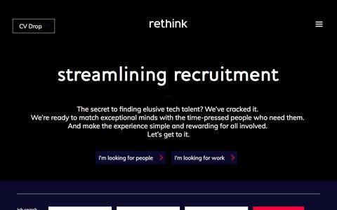 Rethink - Streamlining Recruitment