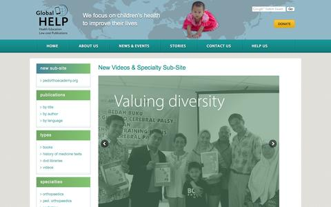 Screenshot of Home Page global-help.org - Global HELP - captured Nov. 8, 2016