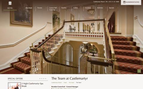 Screenshot of Team Page castlemartyrresort.ie - The Team at Castlemartyr Resort Cork - captured July 16, 2018