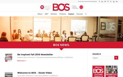 Screenshot of Press Page bos.com - BOS News | Inspiring Workspaces by BOS - captured Nov. 23, 2016