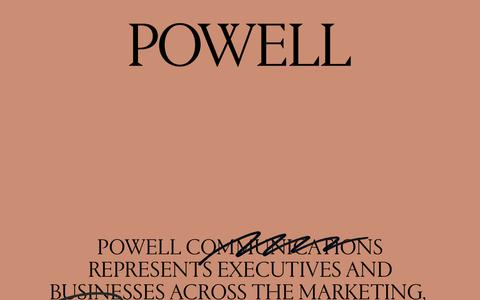 Screenshot of Contact Page powellny.com - Contact | Powell Communications - captured Sept. 29, 2018