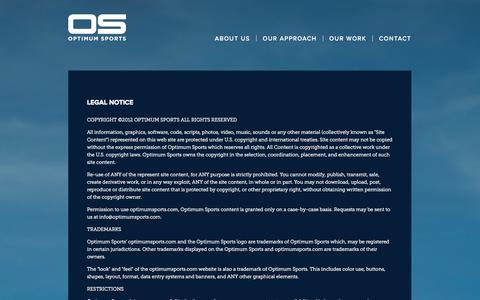Screenshot of Terms Page optimumsports.com - Optimum Sports - captured Oct. 7, 2014