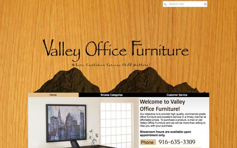 Screenshot of Home Page valleyofficefurniture.com - Valley Office Furniture - captured Sept. 26, 2014