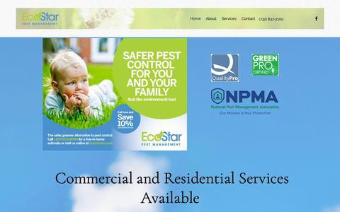 Screenshot of Home Page ecostarpm.com - Home | EcoStar Pest Management - captured Dec. 14, 2018