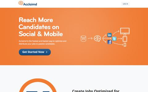 Screenshot of Pricing Page acclaimd.com - Acclaimd Social Recruiting: Reach More Candidates. - captured Sept. 13, 2014