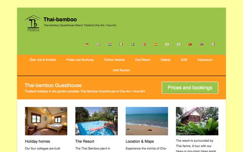 Screenshot of Menu Page thai-bamboo.de - Thai-bamboo Guesthouse Resort Thailand Cha-Am / Hua-Hin - captured Nov. 16, 2017