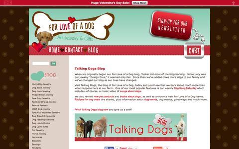 Screenshot of Blog forloveofadog.com - For Love of a Dog Talking Dogs Blog - captured Jan. 8, 2016