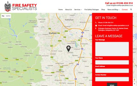 Screenshot of Contact Page fire-safety-specialists.co.uk - Fire Safety Specialists | Contact Us - captured Feb. 10, 2016