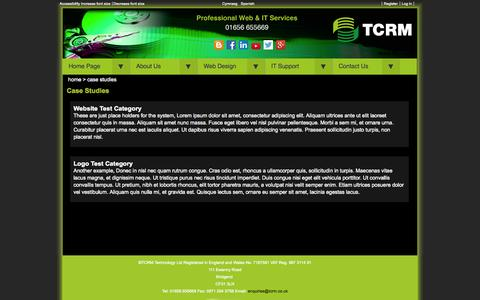 Screenshot of Case Studies Page tcrm.co.uk - Welcome to the Case Studies page - captured Oct. 7, 2014