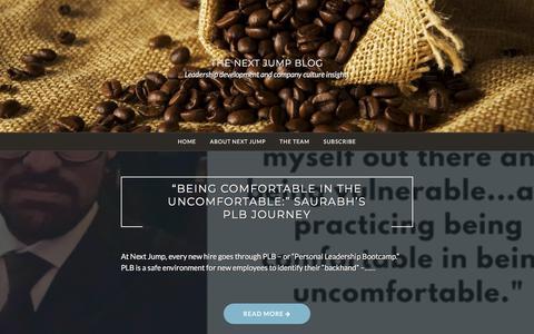 Screenshot of Blog nextjump.com - The Next Jump Blog – Leadership development and company culture insights - captured April 23, 2018