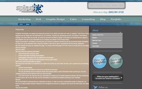 Screenshot of Privacy Page splashomnimedia.com - Privacy Policy | Splash Omnimedia - South Carolina - captured Oct. 7, 2014